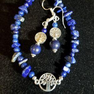 Asst Stone Tree of Life  Bracelet/Earring Sets